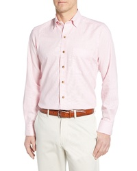 David Donahue Regular Fit Cotton Sport Shirt