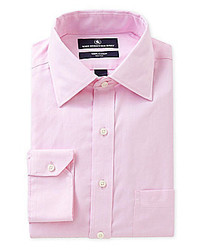 Hart Schaffner Marx Regular Fit Spread Collar Royal Oxford Dress Shirt