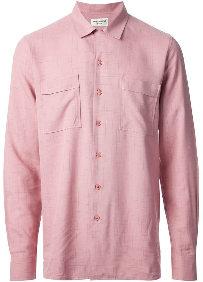 Saint laurent fine check shirt where to buy how to wear for Saint laurent check shirt