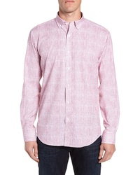 Bugatchi Shaped Fit Crosshatch Sport Shirt