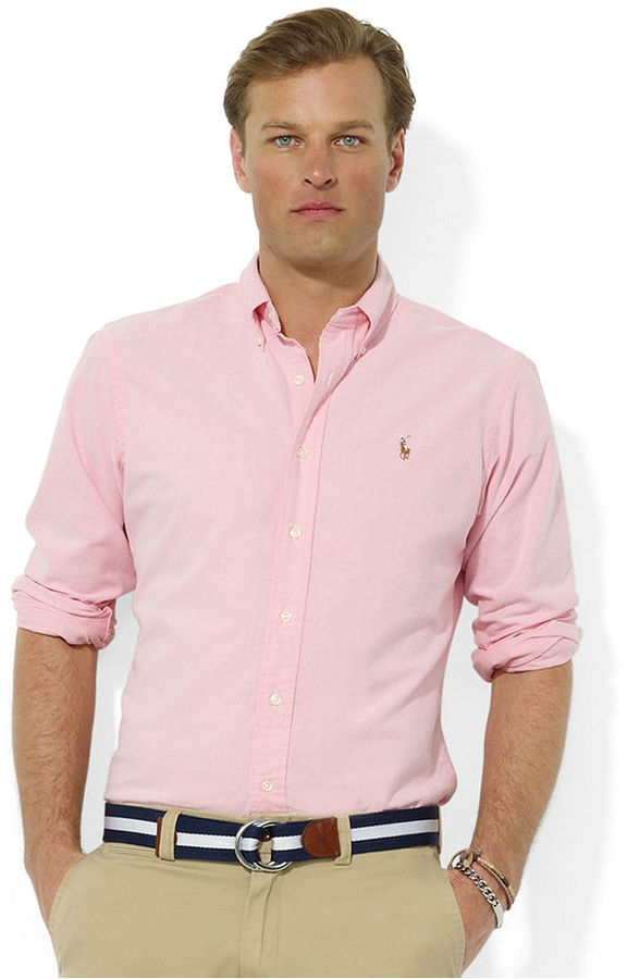 ... Pink Long Sleeve Shirts Polo Ralph Lauren Shirt Core Classic Fit Oxford  Shirt