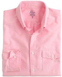 Slim lightweight oxford shirt in solid medium 234091