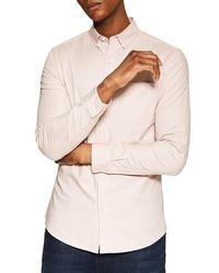 Topman Stretch Solid Sport Shirt