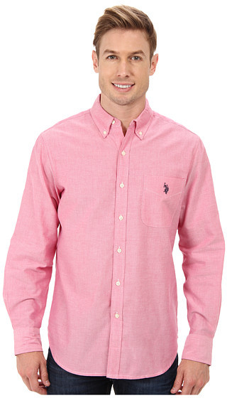 U.S. Polo Assn. Solid Long Sleeve Oxford Button Down Shirt | Where ...