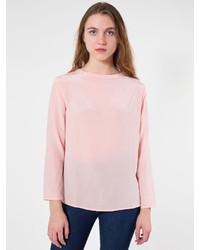 American apparel washed silk long sleeve tee medium 154318