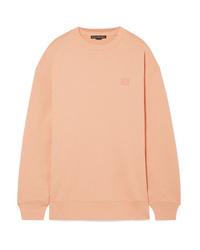 Acne Studios Forba Face Appliqud Cotton Jersey Sweatshirt
