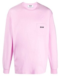 MSGM Long Sleeved Logo T Shirt