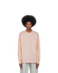 Acne Studios Pink Bla Konst Baseball Emrys T Shirt