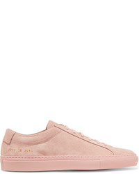 Common Projects Original Achilles Suede Sneakers Pastel Pink
