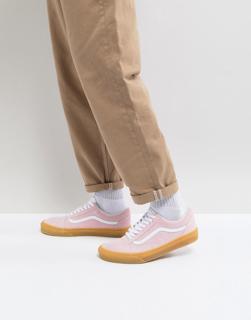 mens vans old skool gum sole