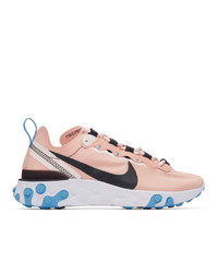 Nike Pink And Black React Elet 55 Sneakers