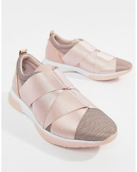 Ted Baker Strap Detail Light Pink Sporty Trainers