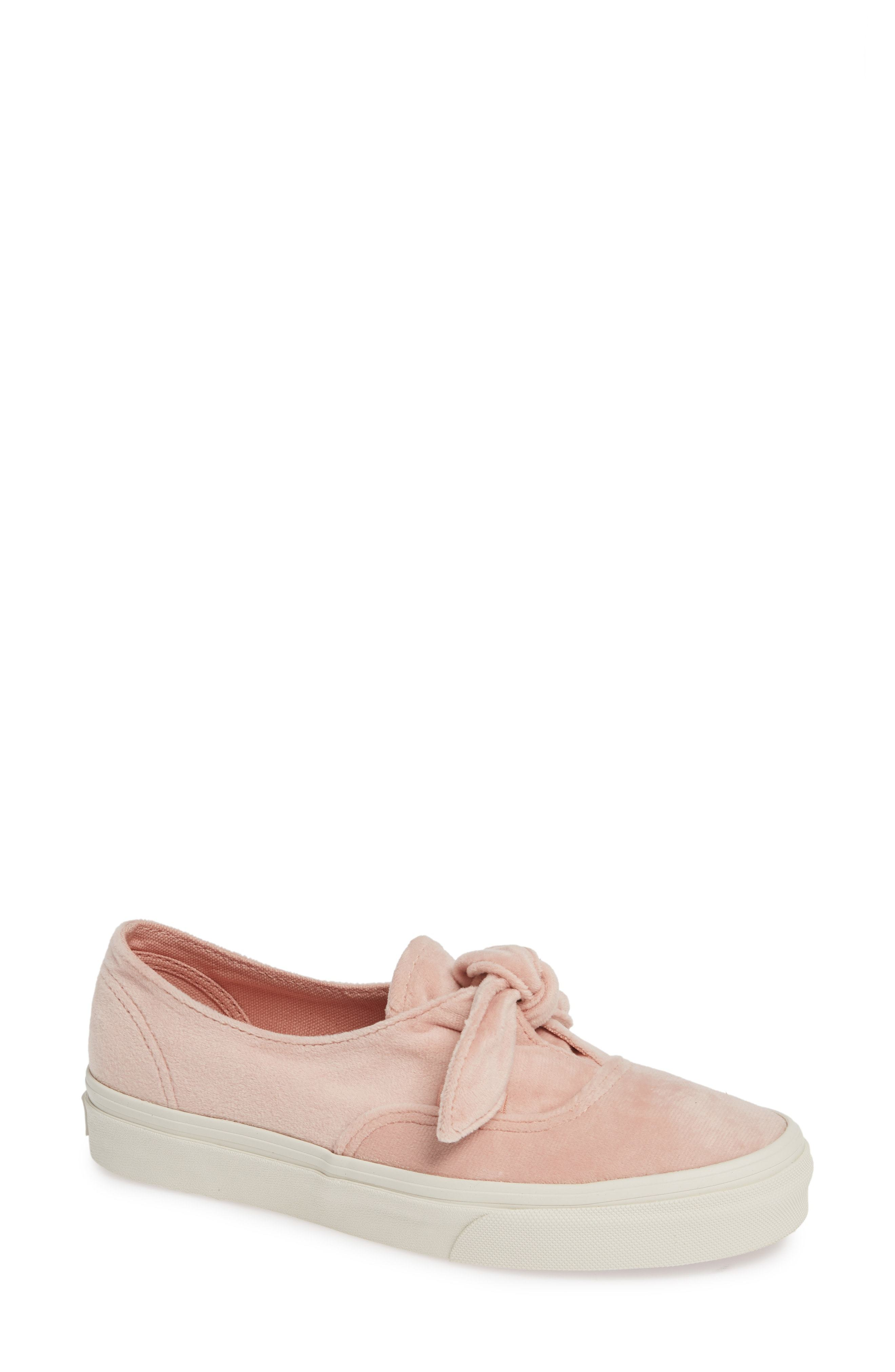 pink vans with bow