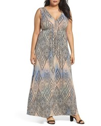 Plus size grecia sleeveless jersey maxi dress medium 5267262