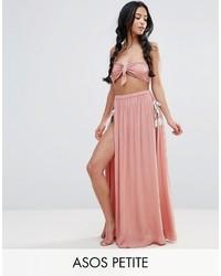 Asos Petite Petite Beach Maxi Skirt With Splices Co Ord