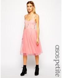 Asos petite midi tutu dress with cami straps medium 134467