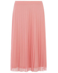 Dorothy perkins tall pink mesh pleat midi skirt medium 134466