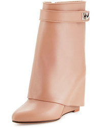Givenchy Calfskin Shark Lock Fold Over Bootie