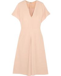 Andrea stretch crepe midi dress pastel pink medium 4413193