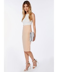 Midi Nude Skirt - Dress Ala