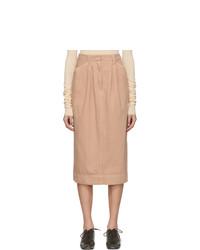 Lemaire Pink Denim Baggy Skirt