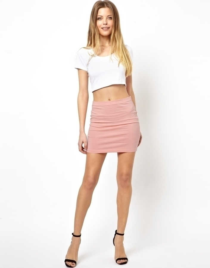 Asos Mini Skirt In Jersey Soft Pink | Where to buy & how to wear