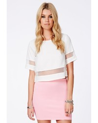 Missguided Hansa Baby Pink Scuba Mini Skirt | Where to buy & how ...