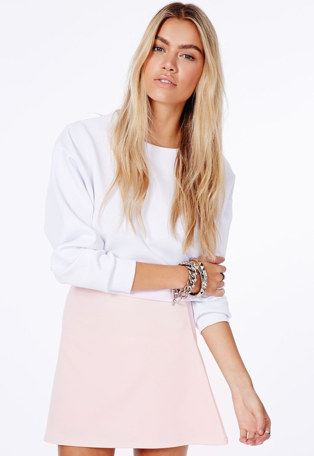 Missguided Lubiana Baby Pink A Line Mini Skirt | Where to buy ...