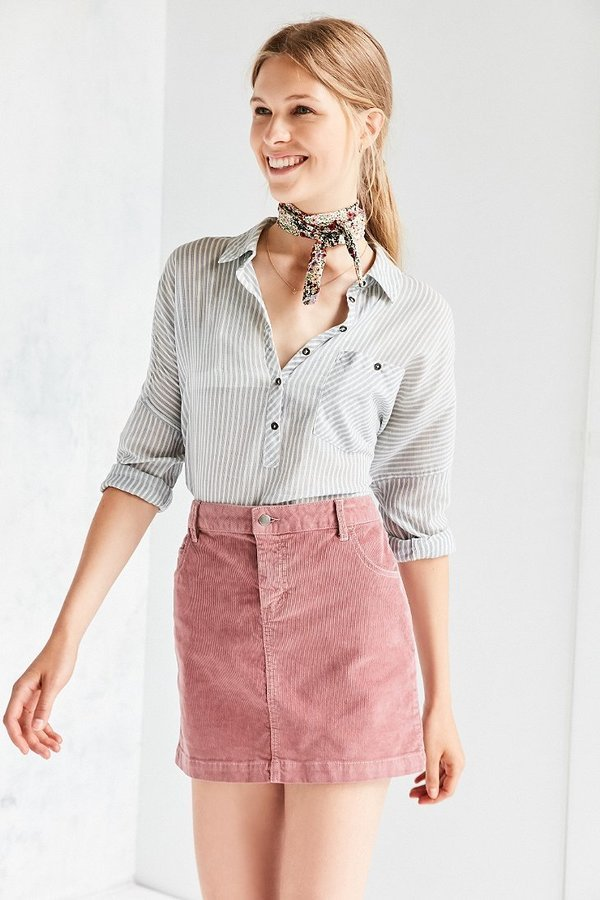dbb671797 ... Urban Outfitters › BDG › Pink Mini Skirts BDG Sybale Corduroy Mini Skirt  ...