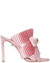 Fausto Puglisi 100mm Ruffled Satin Mules W Bow