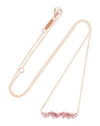 Suzanne Kalan 18 Karat Gold Sapphire And Diamond Necklace