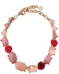 Crystal rosette station necklace pinkmulti medium 1158413