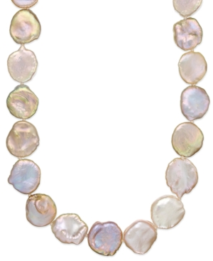 Y S Sterling Silver Pink Keshi Pearl Necklace