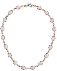 Pink mother of pearl doublet necklace medium 1158416