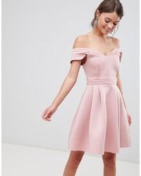 ASOS DESIGN Asos Bardot Cold Shoulder Mini Prom Dress