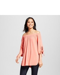 Alison Andrews Tie Sleeve Off The Shoulder Tunic