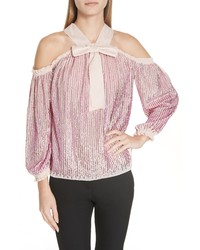 Needle & Thread Kaleidoscope Cold Shoulder Top