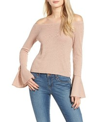 Mimichica Mimi Chica Ribbed Off The Shoulder Top