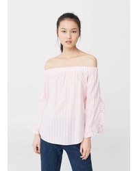 Mango Off Shoulder Poplin Blouse