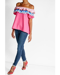 Peter Pilotto Off The Shoulder Cotton Top
