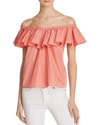 Rebecca Taylor Off The Shoulder Ruffle Top