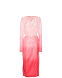 ATTICO Silk Ombre Wrap Dress
