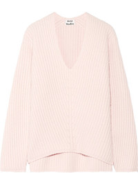 Deborah ribbed wool sweater pastel pink medium 5173094