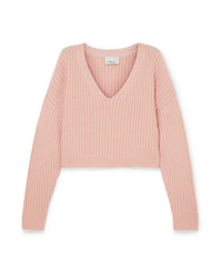 3.1 Phillip Lim Oversized Cropped Ribbed Wool Blend Sweater