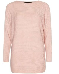 Blush Slouchy Ribbed Jumper