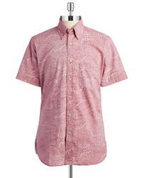 Brooks Brothers Red Fleece Paisley Cotton Sportshirt