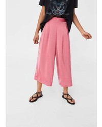 Mango Flowy Cropped Trousers