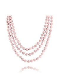 Bling Jewelry Pink Coral Color Sea Shell Long Pearl Strand Endless Necklace 64in