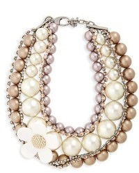 Marc Jacobs Daisy Imitation Pearl Collar Necklace