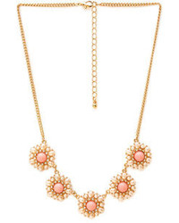 Forever 21 Regal Faux Pearl Cluster Necklace